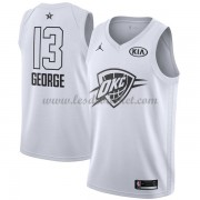 Maillot NBA Pas Cher Oklahoma City Thunder Paul George 13# White 2018 All Star Game Swingman..